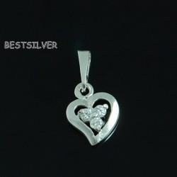 Wisiorek Serce Srebrny do kompletu srebro