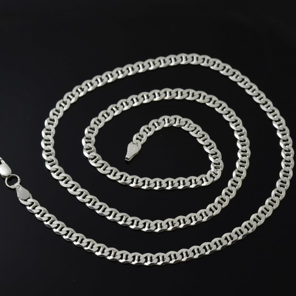 Srebrny łańcuszek męski Travertina / Marina 60cm 5mm