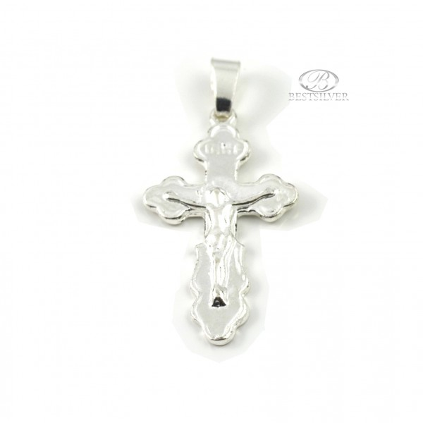 Krzyżyk srebrny z Panem Jezusem Srebro 925 KR011