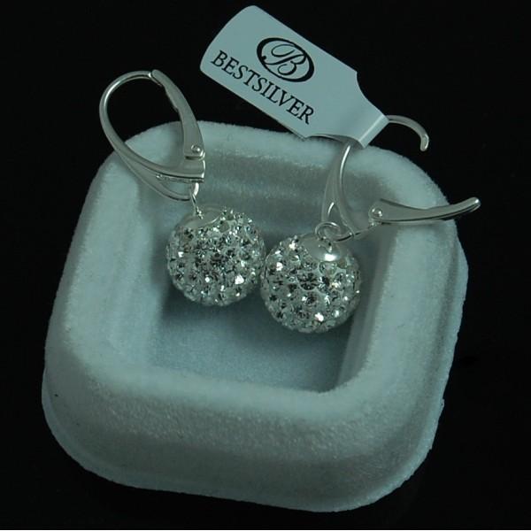 Kolczyki Swarovski Disco Ball 12mm Crystal