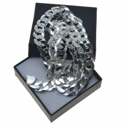Łańcuszek Srebrny Męski Pancerka 50cm 10,5mm Srebro