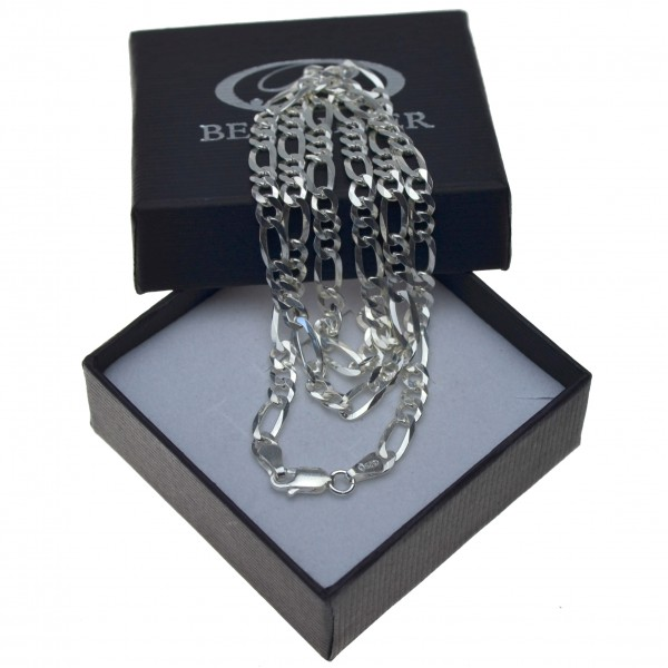 Łańcuszek Srebrny Figaro Męski 55cm SREBRO pr 925 4,5mm Tania Biżuteria