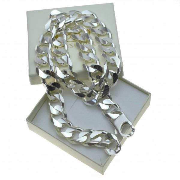 Łańcuch Srebrny masywny Pancerka 70cm 1,5cm
