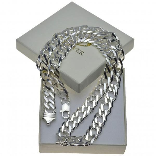 Duży łańcuch srebrny męski Rombo 60cm szer.12mm