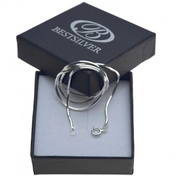 Łańcuszek Srebrny Ośmiokątny 40cm Gruby 1,3mm ze srebra 925