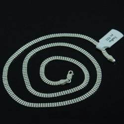 Naszyjnik Srebrny Damski Kulki 3 Rzędowe 45cm