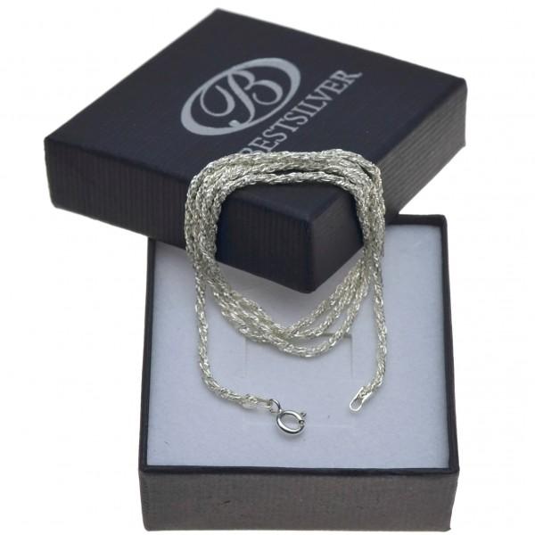Łańcuszek srebrny damski 50cm kręcony sznurek Srebro 925
