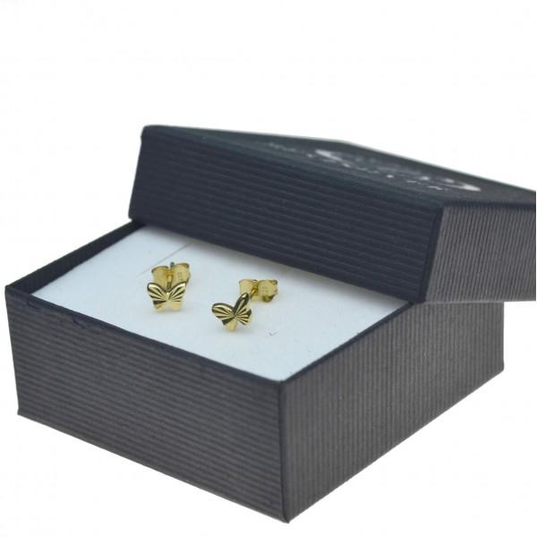 Kolczyki złote motylki na sztyft Złoto pr.333