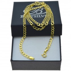 Złoty męski łańcuszek pancerka 50cm 585 widoczny