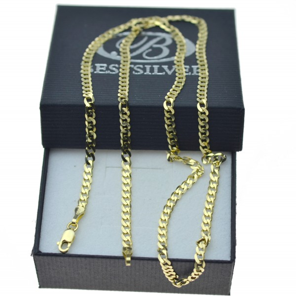 Łańcuszek Złoty Pancerka 50cm 3mm Złoto pr 585