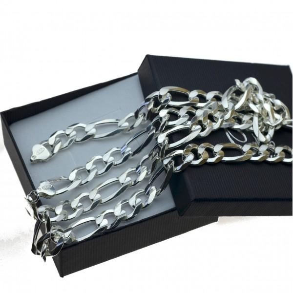 Łańcuszek srebrny męski Figaro 10mm 70cm Srebro 925