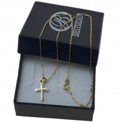 Złoty komplet biżuterii łańcuszek + krzyżyk Złoto 333