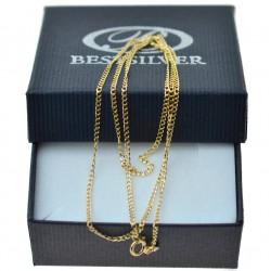 Łańcuszek złoty pancerka 45cm na każdą okazje