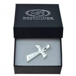 Srebrny krzyżyk Męski Pax Et Bonum Srebro 925