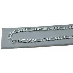 Srebrny Łańcuszek Figaro męski 6mm 50cm lub 55cm Srebro 925