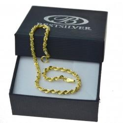 Bransoletka Złota Damska Korda 19cm złoto 333