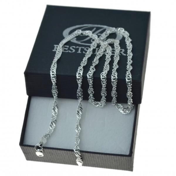 Łańcuszek Srebrny singapur damski 3mm 45cm / 50cm srebro 925