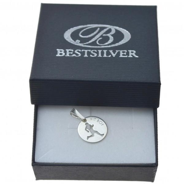 Zawieszka srebrna na łańcuszek Fit Boy Srebro srebro 925