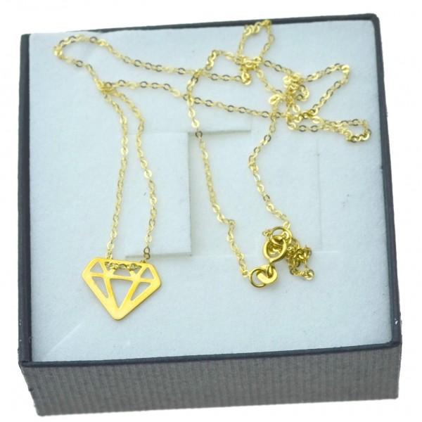 Naszyjnik Złoty damski Diament 8kt celebrytka pr.333