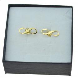 Złote kolczyki nieskończoność damskie 8 karatowe pr.333