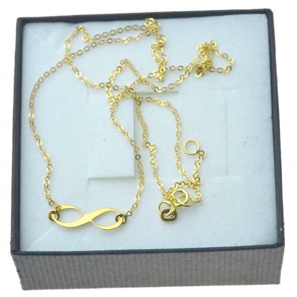 Złoty naszyjnik damski celebrytka ze znakiem nieskończności Złoto 333