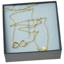 Złoty łańcuszek ze znakiem nieskończnosci celebrytka 8kt pr 333