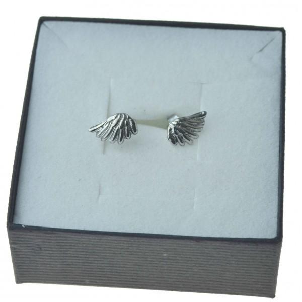 kolczyki Srebrne celebrytki skrzydła sztyfty Srebro 925