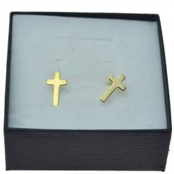 Złote kolczyki krzyżyki damskie 8kt na sztyfty pr.333
