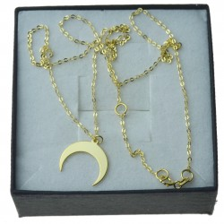 Złoty naszyjnik z księżycem celebrytka Złoto 333