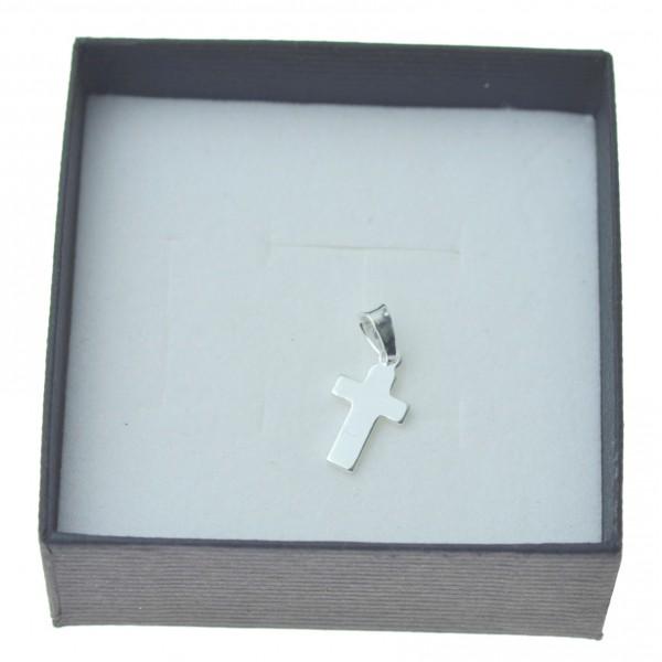Krzyżyk srebrny mały i prosty gładki srebro pr. 925 kr061