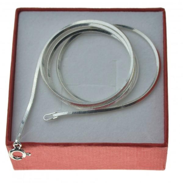 Gruby łańcuszek srebrny damski 45cm żmijka kwadratowa 1,5mm