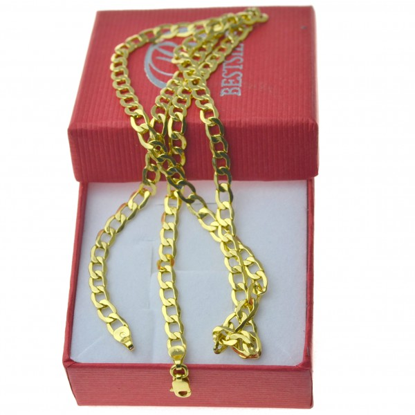 Złoty męski łańcuszek pancerka szerokość 4,5mm 50cm 585