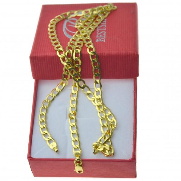 Złoty męski łańcuszek pancerka szerokość 4,5mm 55cm 585