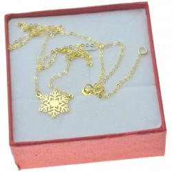 Naszyjnik złoty damski śnieżynka Złoto pr. 333
