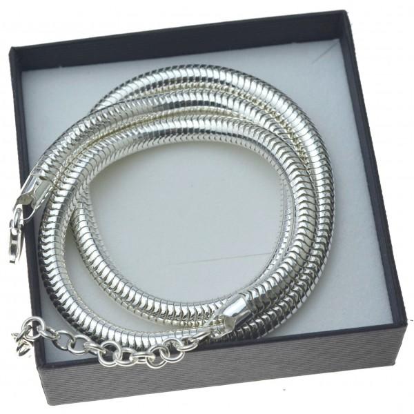 Srebrny gruby łańcuszek damski 45cm +5cm Srebro próby 925