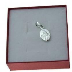 Medalik srebrny mały szkaplerz Pan Jezus z sercem Najświętsza Dziewica Srebro 925