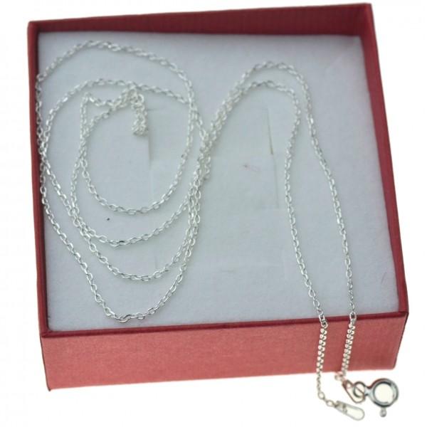 Łańcuszek srebrny damski cienki ankier 60cm