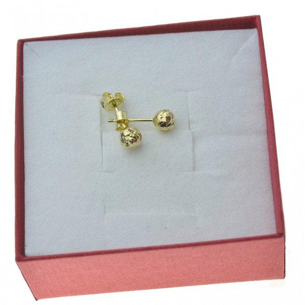 Złote kolczyki kulki 5mm diamentowane Złoto 333