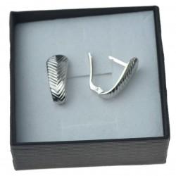 Kolczyki srebrne  sztyfty angielskie duże widoczne srebro 925 kol089