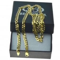 Złoty męski łańcuszek pancerka 55cm 4,4mm złoto 333