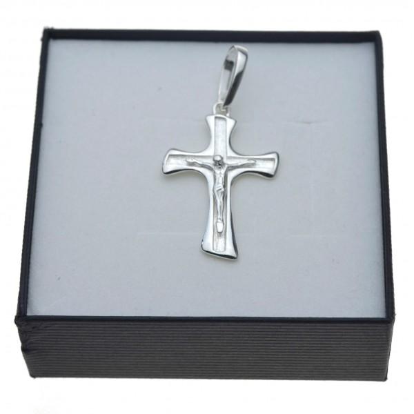 SREBRNY krzyż krzyżyk Z PANEM JEZUSEM MĘSKI