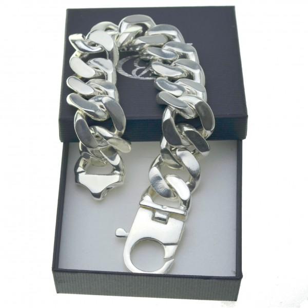 Bransoleta srebrna m ęska gigant największa 25,5cm 23mm srebro 925