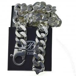 Duży męski łańcuszek srebrny 60cm 2,4cm srebro 925 GIGANT