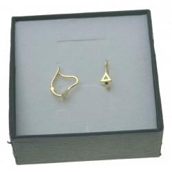 Złote kolczyki damskie trójkąt bigle angielskie Złoto 333