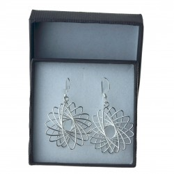 Kolczyki srebrne wiszące geometryczne srebro próby 925 KOL088