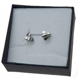 Kolczyki srebrne małe pszczoły SREBRO 925