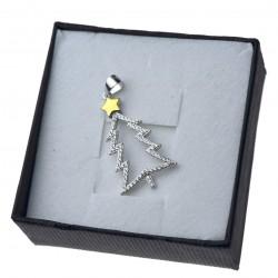 Zawieszka srebrna damska choinka z cyrkoniami srebro 925
