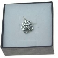 Zawieszka srebrna damska róża płaska Srebro pr.925 ZAW022
