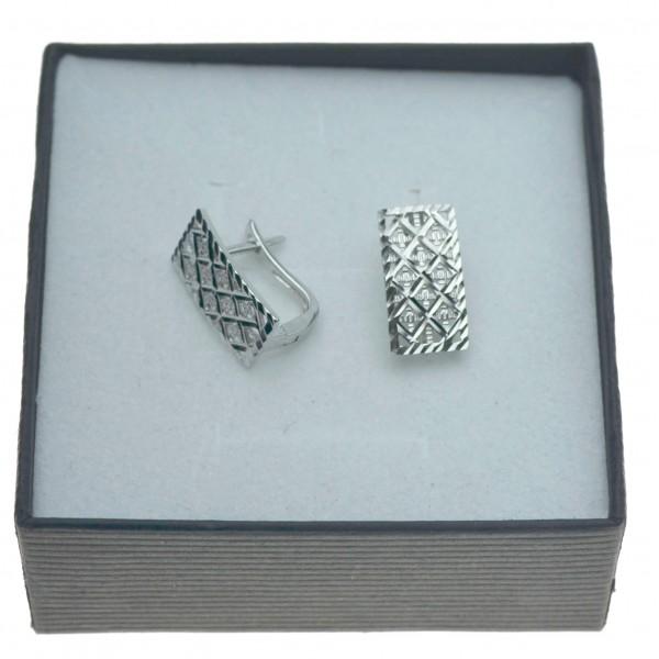 Kolczyki srebrne damskie ażurowe zapięcie angielskie Srebro 925 KOL059