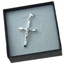 Krzyżyk srebrny z Panem Jezusem męski Srebro 925 KR025